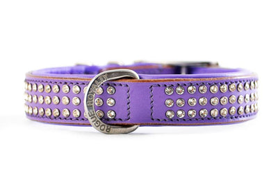 "Dog Collar - ""Shimmer"" Swarovski Purple"