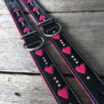 Dog Collar - Queen of Hearts (Slim-fit)