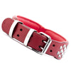 Dog Collar - Imperial Red Diamond (Flat Cone Studs & Red Lining)