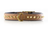 Dog Collar - Ruthless Tan & Brass Slimfit