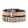 "Dog Collar - ""Shimmer"" Swarovski Tan"