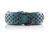 Dog Collar - Ruthless Teal (flat studs)