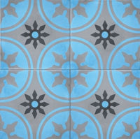 Cement Tile Royale Light Blue
