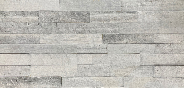 Silver Travertine Slate Wall