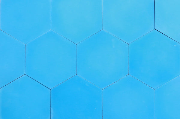Cement Hexagon Oasis Blue