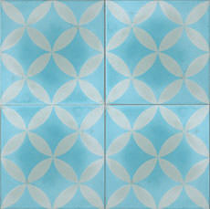 Cement Tile Circles Aqua