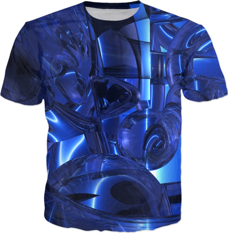 Blue Dreamscape Abstract T-shirt