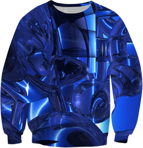 Blue Dreamscape Abstract Sweatshirt