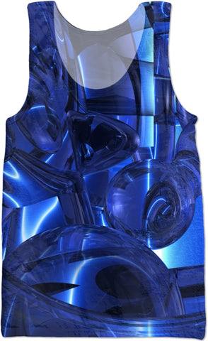 Blue Dreamscape Abstract Tank