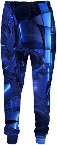 Blue Dreamscape Abstract Sweatpants