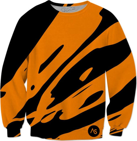 Orange Blacklight UV Reactive Sweatshirt