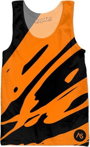 Orange Blacklight UV Reactive Tank