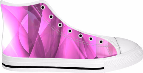 Lavender Explosion white high top shoes