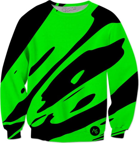 Lime Blacklight UV Reactive Sweatshirt