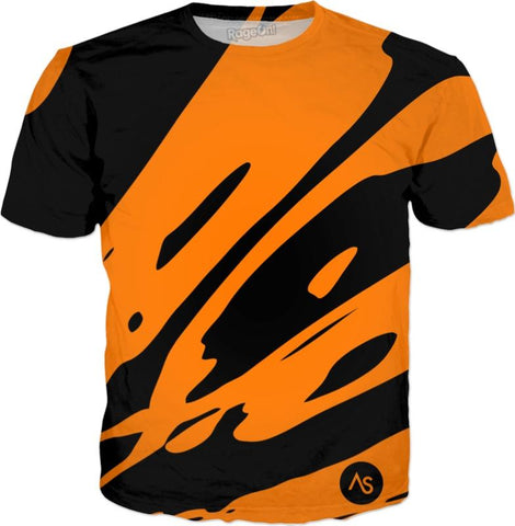 Orange Blacklight UV Reactive All Over Print Shirt