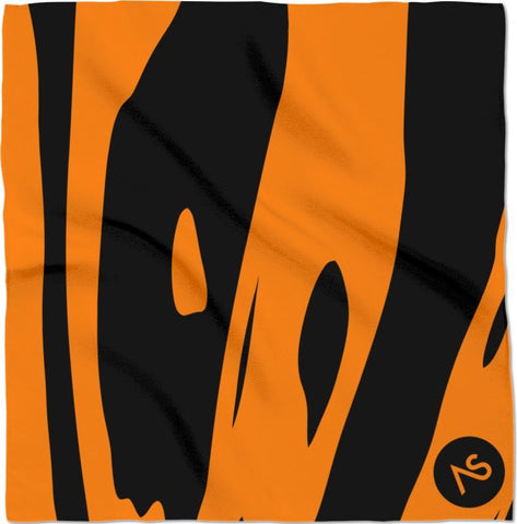 Orange Blacklight UV Reactive Bandanna