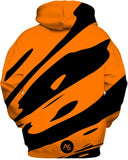 Orange Blacklight UV Reactive Hoodie