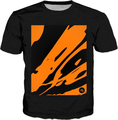 Orange Blacklight UV Reactive Black Classic Shirt