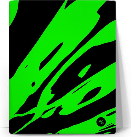 Lime Blacklight UV Reactive Canvas Print