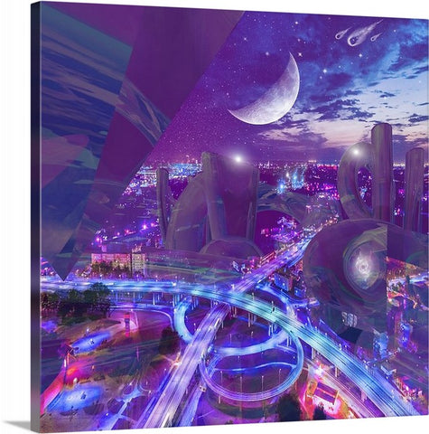 """The Crystal City"" Canvas print"