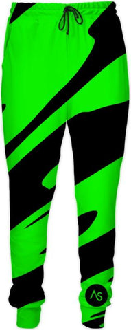 Lime Blacklight UV Reactive Joggers