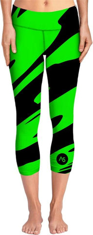 Lime Blacklight UV Reactive Yoga Pants