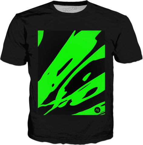 Lime Blacklight UV Reactive Black T-Shirt