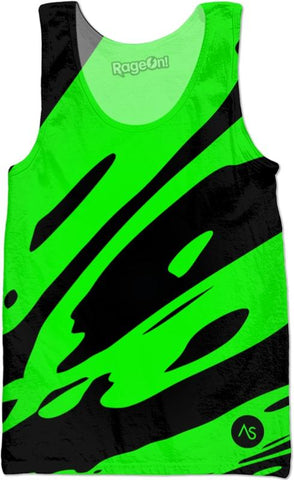 Lime Blacklight UV Reactive Tank
