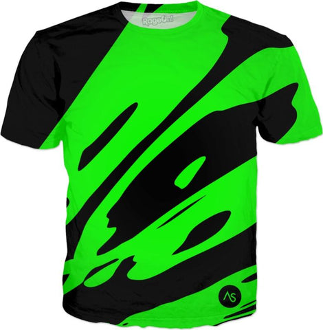 Lime Blacklight UV Reactive T-Shirt