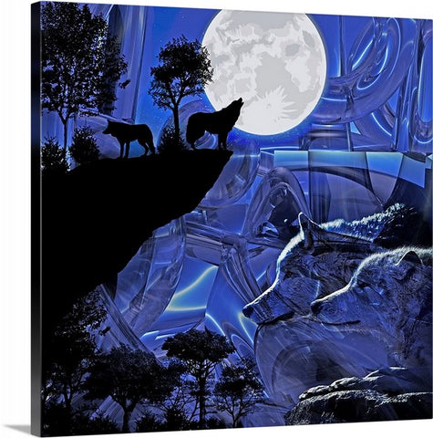"""Edge of the night"" Canvas print"