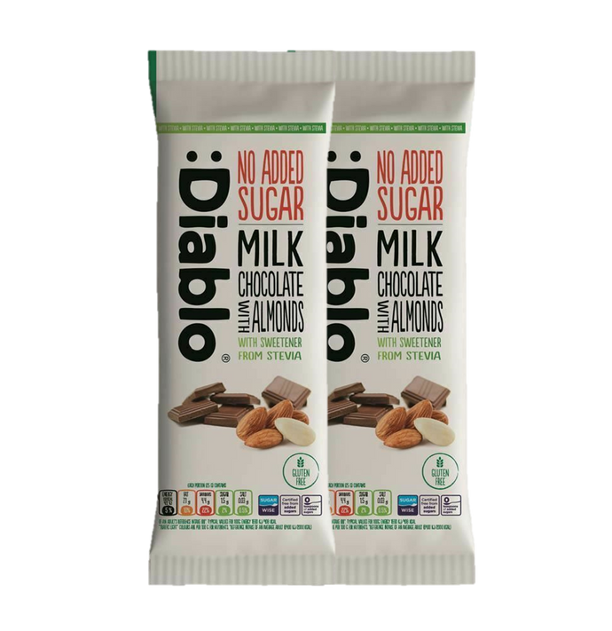 Sugar Free Almond Milk Chocolate2x75g|heart-cafe.co.uk