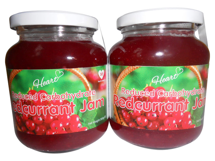 Sugar Free Premium Redcurrant Jam with Natural Sweeteners 2x380g