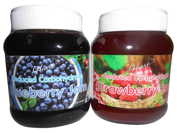Sugar Free Blueberry and Strawberry Jams-heart-cafe.co.uk