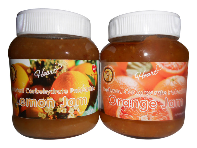 Sugar Free Paleo Lemon And Orange Jam 2x380g-heart-cafe.co.uk