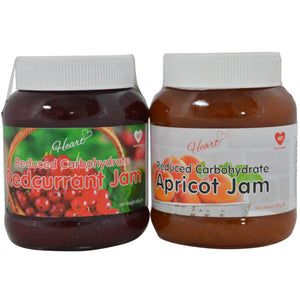 Low Sugar Apricot and Redcurrant Jam with Narural Sweeteners 2x380g