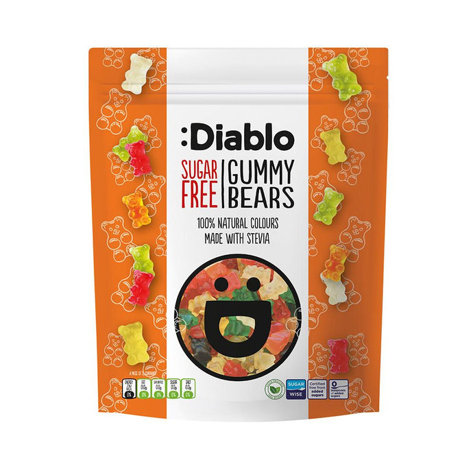 Sugar Free Fruit Gummy Bears|heart-cafe.co.uk