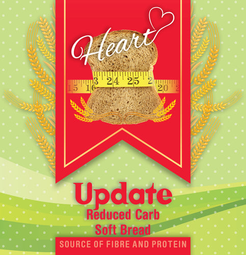 Low Carb Wheat Soft Bread 2x300g-heart-cafe.co.uk