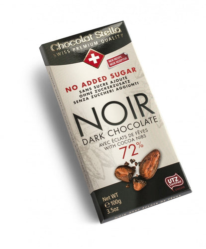 Sugar Gluten Free Swiss Dark Chocolate with Nibs|heart-cafe.co.uk