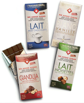 No Added Sugar Gluten Free Swiss Milk Chocolate Collection