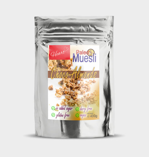 Sugar Gluten Dairy Free Choco Almond Muesli|heart-cafe.co.uk