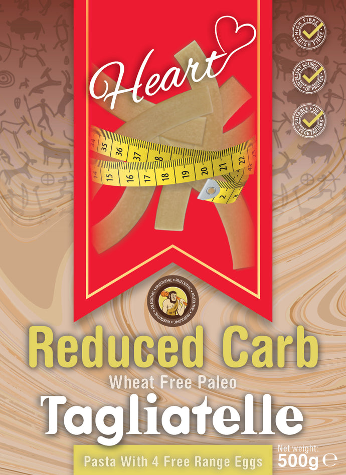 Low Carb Wheat Free Paleo Pasta 500g-heart-cafe.co.uk