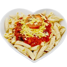 Healthy meal with Low Carb Pasta-heart-cafe.co.uk