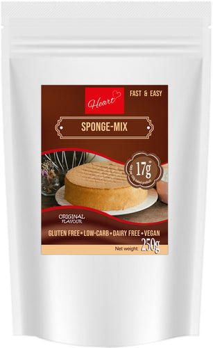 Low Carb Gluten Sugar Dairy Free Sponge Cake Mix Plain|heart-cafe.co.uk