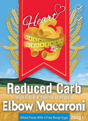 Low Carb High Fibre Protein Macaroni Pasta -Heart