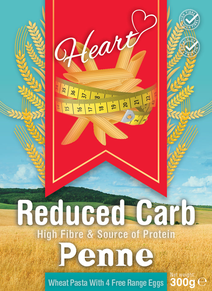 Low Carb Wheat Penne 300g-heart-cafe.co.uk