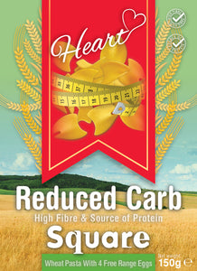 Low Carb Wheat Square Pasta With Eggs-heart-cafe.co.uk