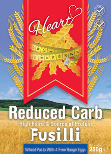 Low Carb Wheat Fusilli Pasta 250g-Heart
