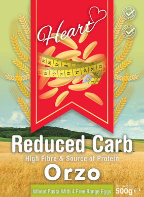 Low Carb Wheat Orzo Rice Pasta 500g-heart-cafe.co.uk