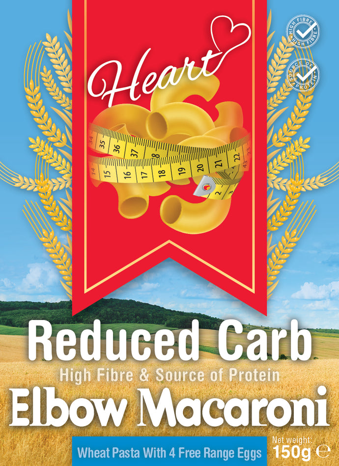 Low Carb Wheat Elbow Macaroni Pasta With Eggs-heart-cafe.co.uk