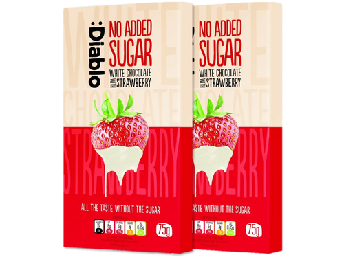 Sugar Free Strawberry White Chocolate2x75g|heart-cafe.co.uk